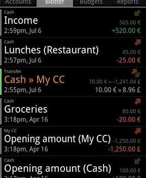 Financisto Ekran Görüntüleri - 1