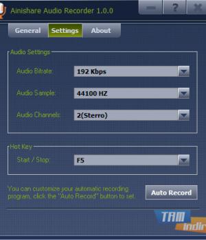 Ainishare Free Audio Recorder Ekran Görüntüleri - 1