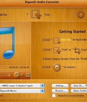 Bigasoft Audio Converter for Mac Ekran Görüntüleri - 1