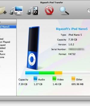 Bigasoft iPod Transfer for Mac Ekran Görüntüleri - 1