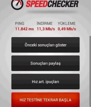 Hız Testi Ekran Görüntüleri - 1