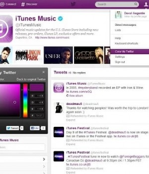 Internet Explorer İçin Color My Twitter Ekran Görüntüleri - 2