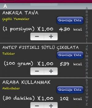 KaloriMatik Ekran Görüntüleri - 2