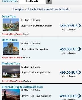 Tatil Sepeti Ekran Görüntüleri - 1