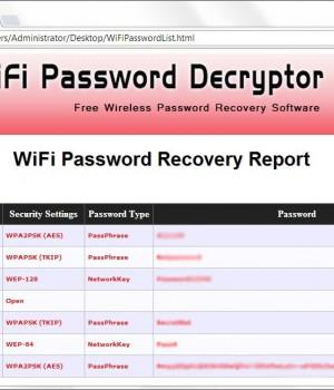 WiFi Password Decryptor Ekran Görüntüleri - 1