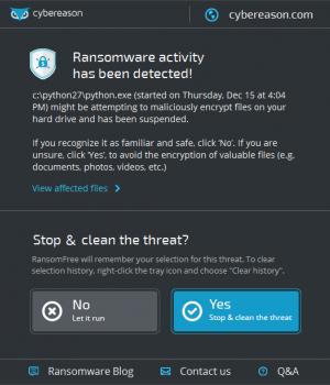 Cybereason RansomFree Ekran Görüntüleri - 1