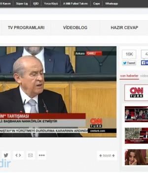 CNN TÜRK Canlı Yayın İzle Ekran Görüntüleri - 1