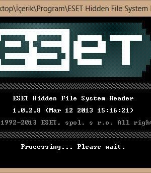 ESET Hidden File System Reader Ekran Görüntüleri - 1