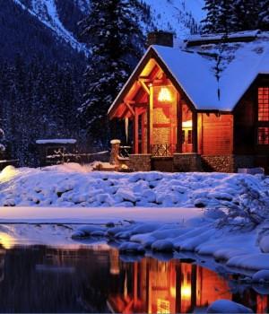 Karlı Gece Teması Ekran Görüntüleri - 1