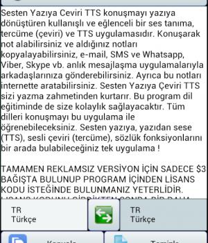 Sesten Yazıya Çeviri TTS Ekran Görüntüleri - 6