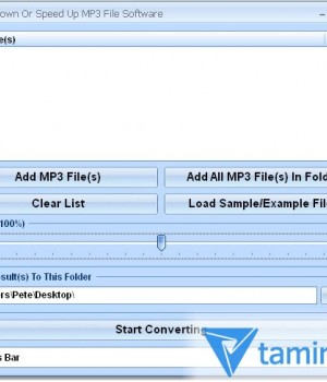 Slow Down Or Speed Up MP3 File Software Ekran Görüntüleri - 1