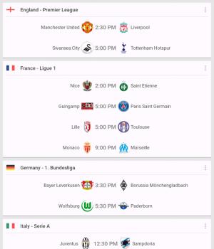 Soccer Scores Ekran Görüntüleri - 6