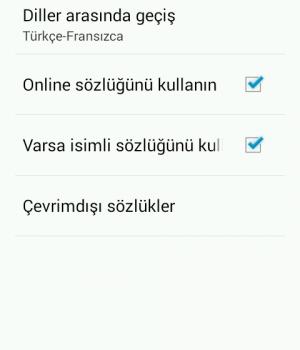 Türkçe-Fransızca Sözlük Ekran Görüntüleri - 6