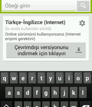 Türkçe-İngilizce Sözlük Ekran Görüntüleri - 8