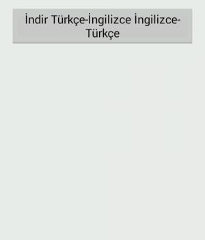 Türkçe-İngilizce Sözlük Ekran Görüntüleri - 3