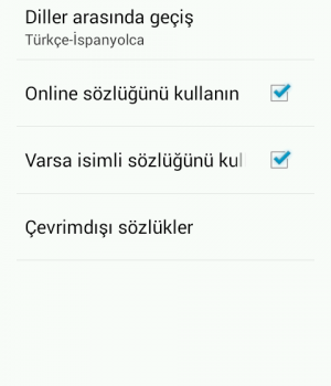 Türkçe-İspanyolca Sözlük Ekran Görüntüleri - 6