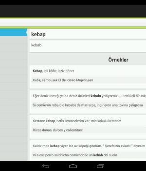 Türkçe-İspanyolca Sözlük Ekran Görüntüleri - 3