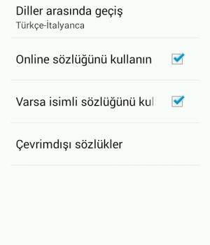 Türkçe-İtalyanca Sözlük Ekran Görüntüleri - 5