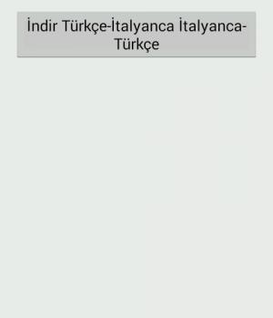 Türkçe-İtalyanca Sözlük Ekran Görüntüleri - 4