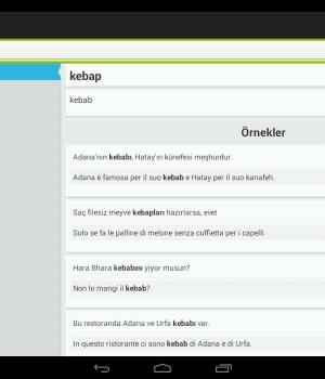 Türkçe-İtalyanca Sözlük Ekran Görüntüleri - 2