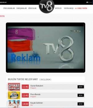 TV8 Canlı Yayın İzle Ekran Görüntüleri - 1