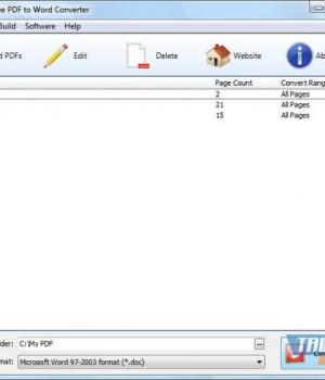 Weeny Free PDF to Word Converter Ekran Görüntüleri - 1