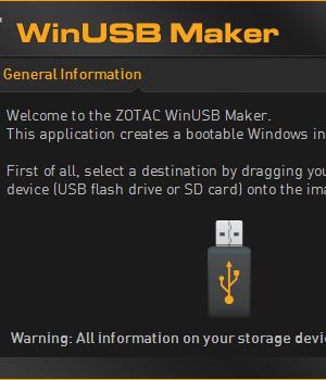 ZOTAC WinUSB Maker Ekran Görüntüleri - 1