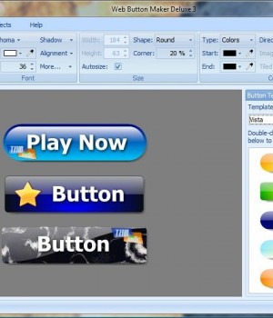 Web Button Maker Deluxe v3.01 Ekran Görüntüleri - 1
