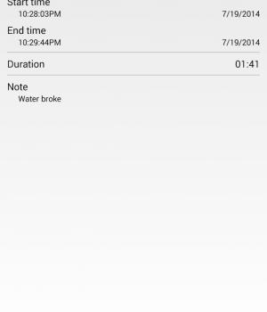 Contraction Timer Ekran Görüntüleri - 2