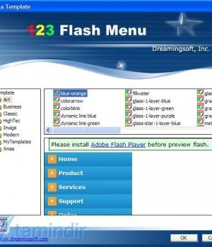 123 Flash Menu Ekran Görüntüleri - 1
