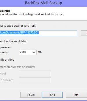 BackRex Mail Backup Ekran Görüntüleri - 2