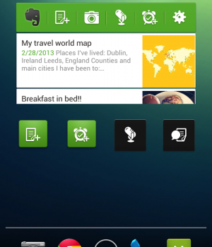 Evernote Widget Ekran Görüntüleri - 1