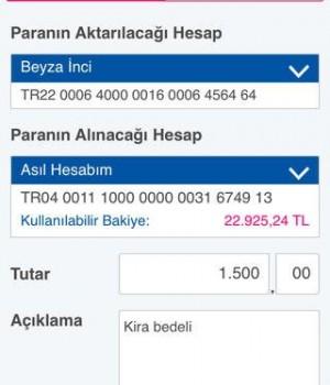 Finansbank Cep Şubesi Ekran Görüntüleri - 1