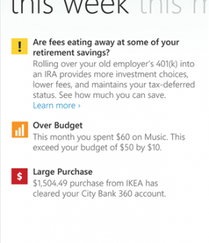 Mint.com Personal Finance Ekran Görüntüleri - 3