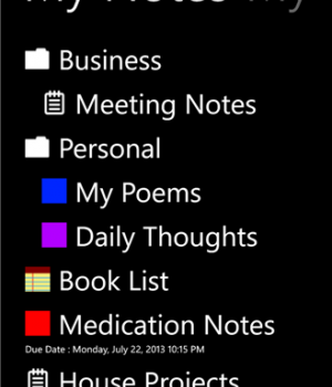 My Notes Ekran Görüntüleri - 3