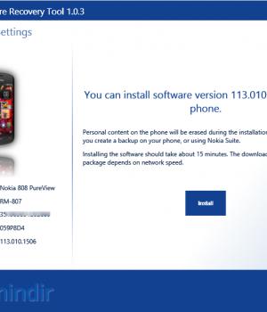 Nokia Software Recovery Tool Ekran Görüntüleri - 1