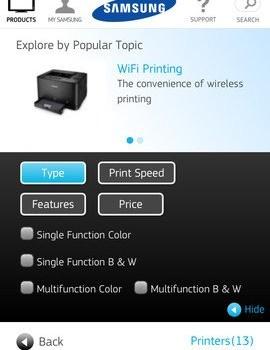 Samsung Mobile Print Ekran Görüntüleri - 1