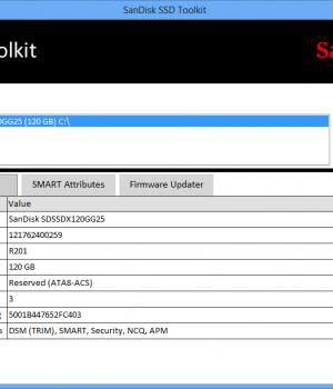 SanDisk SSD Toolkit Ekran Görüntüleri - 1