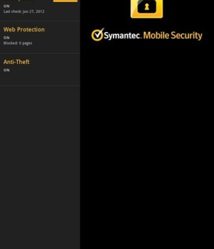 Symantec Mobile Security Agent Ekran Görüntüleri - 1