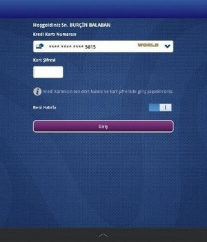 Yapı Kredi Mobil Bankacılık HD Ekran Görüntüleri - 2