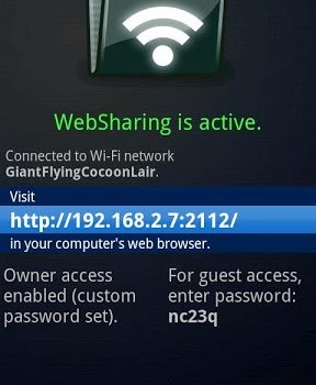 WebSharingLite File/Media Sync Ekran Görüntüleri - 2