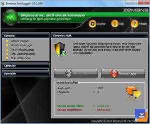 Zemana AntiLogger Ekran Görüntüleri - 2