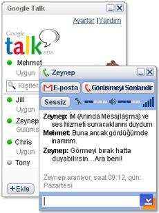 Google Talk Ekran Görüntüleri - 1