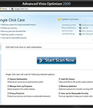 Advanced Vista Optimizer Ekran Görüntüleri - 1