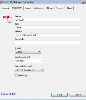 BullZip PDF Printer Ekran Görüntüleri - 1