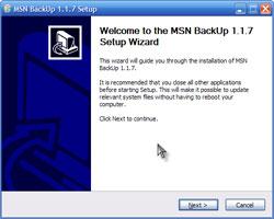 MSN Backup 1.17 Ekran Görüntüleri - 1