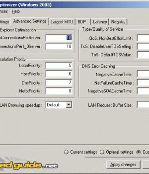 Sg Tcp Optimizer Ekran Görüntüleri - 1