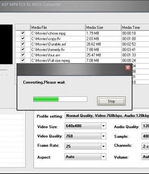 A123 AVI MPEG WMV ASF MP4 FLV to MOV Converter Ekran Görüntüleri - 1