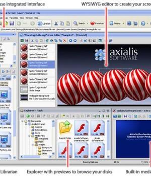 Axialis Professional Screensaver Producer Ekran Görüntüleri - 2