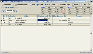 Banka Hesap Takip Ekran Görüntüleri - 1